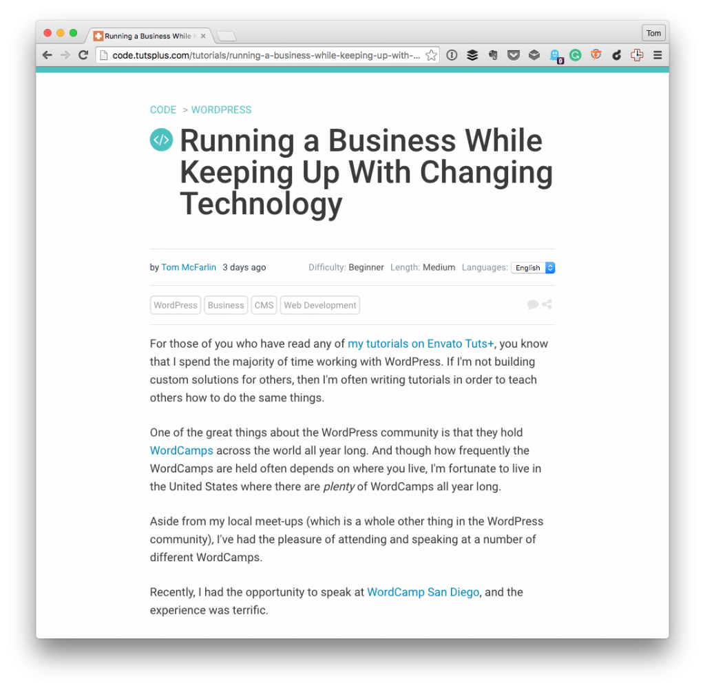Running a Business While Keeping Up With Changing Technology