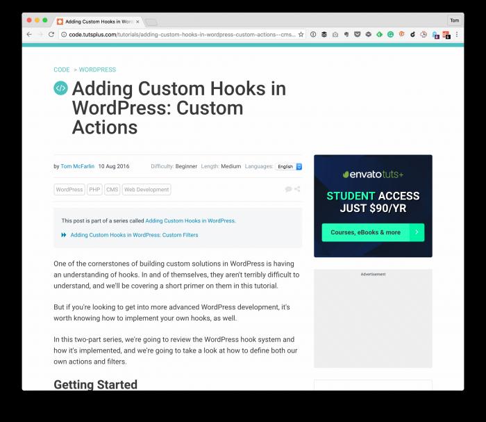 WordPress Hooks: Actions