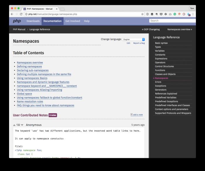 WordPress Plugin Design: Namespaces