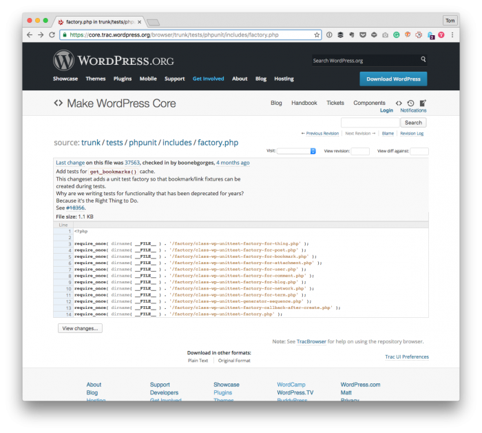 WordPress Unit Tests: The Source Code on Trac