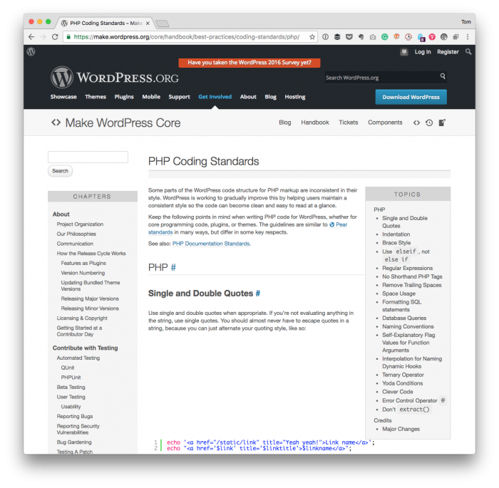 PSRs or WordPress Coding Standards: The WordPress Coding Standards