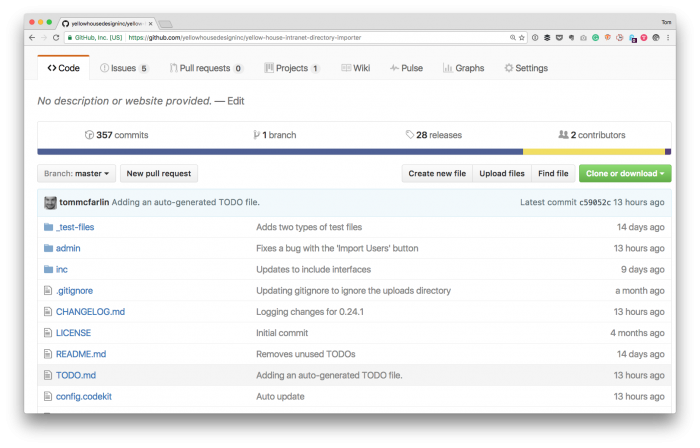 Project TODO: Markdown file in a GitHub Repository.