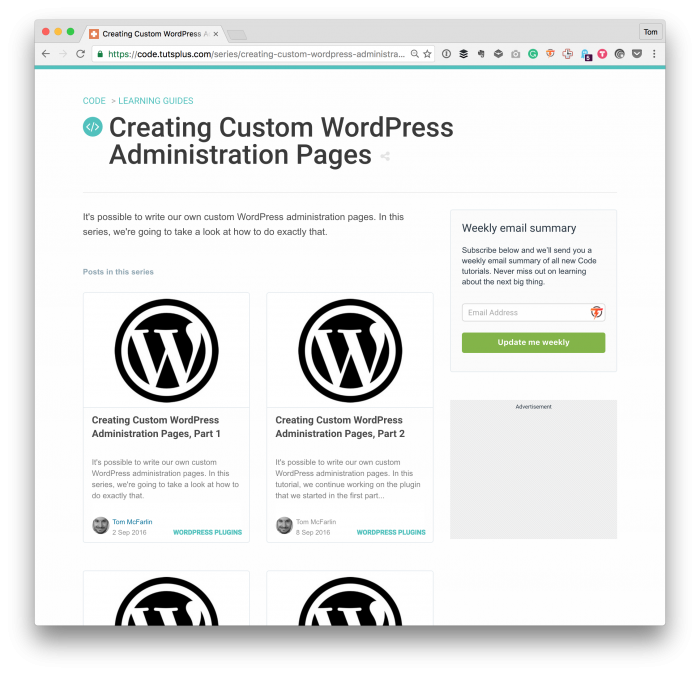 Custom Admin Pages in WordPress