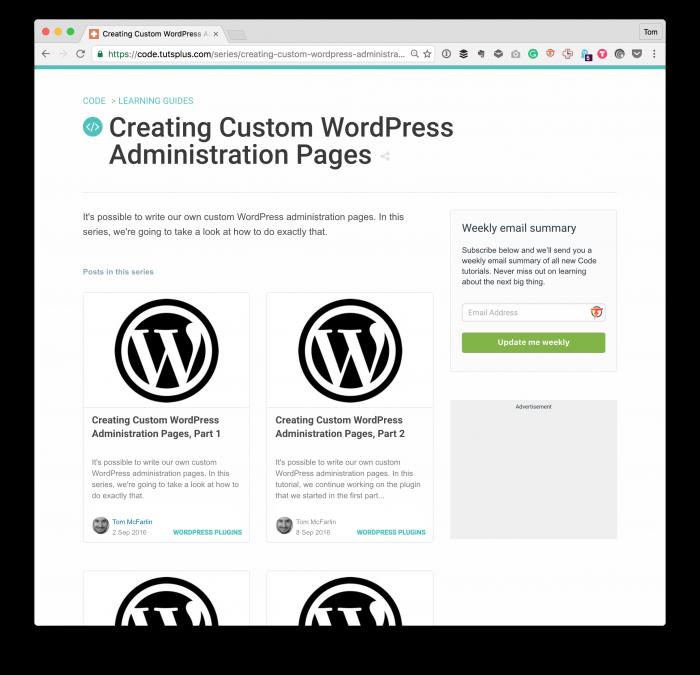 Custom Admin Pages in WordPress