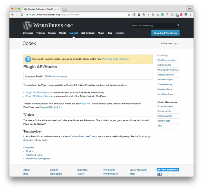 Using WordPress Hooks