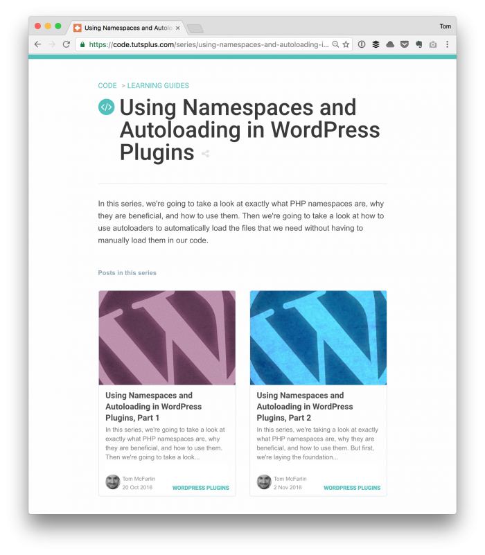 Namespacing and Autoloading in WordPress