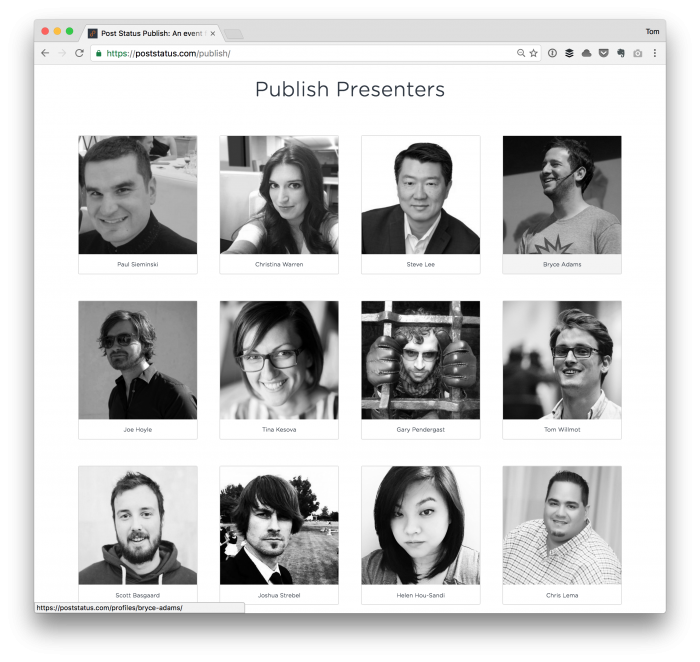 Post Status Publish Presenters