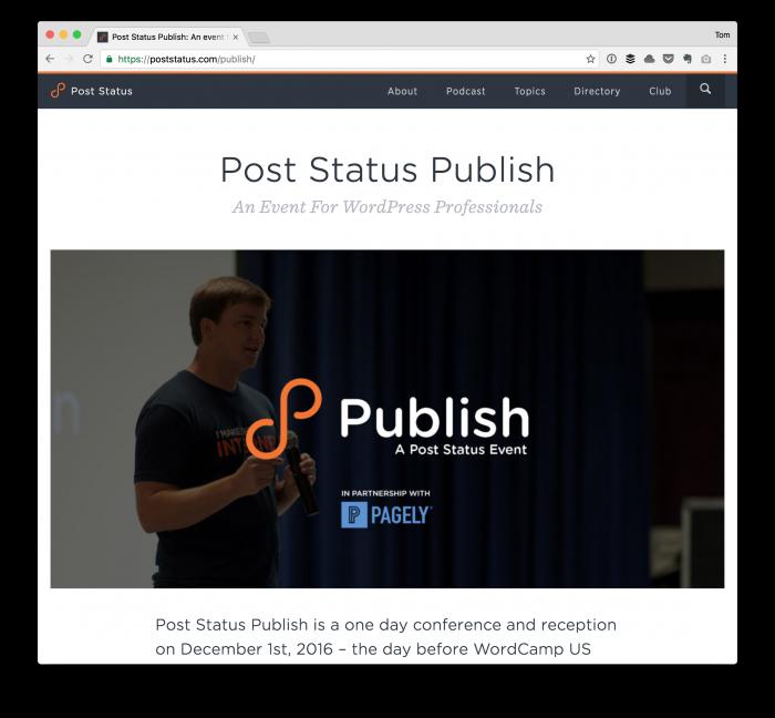 Post Status Publish