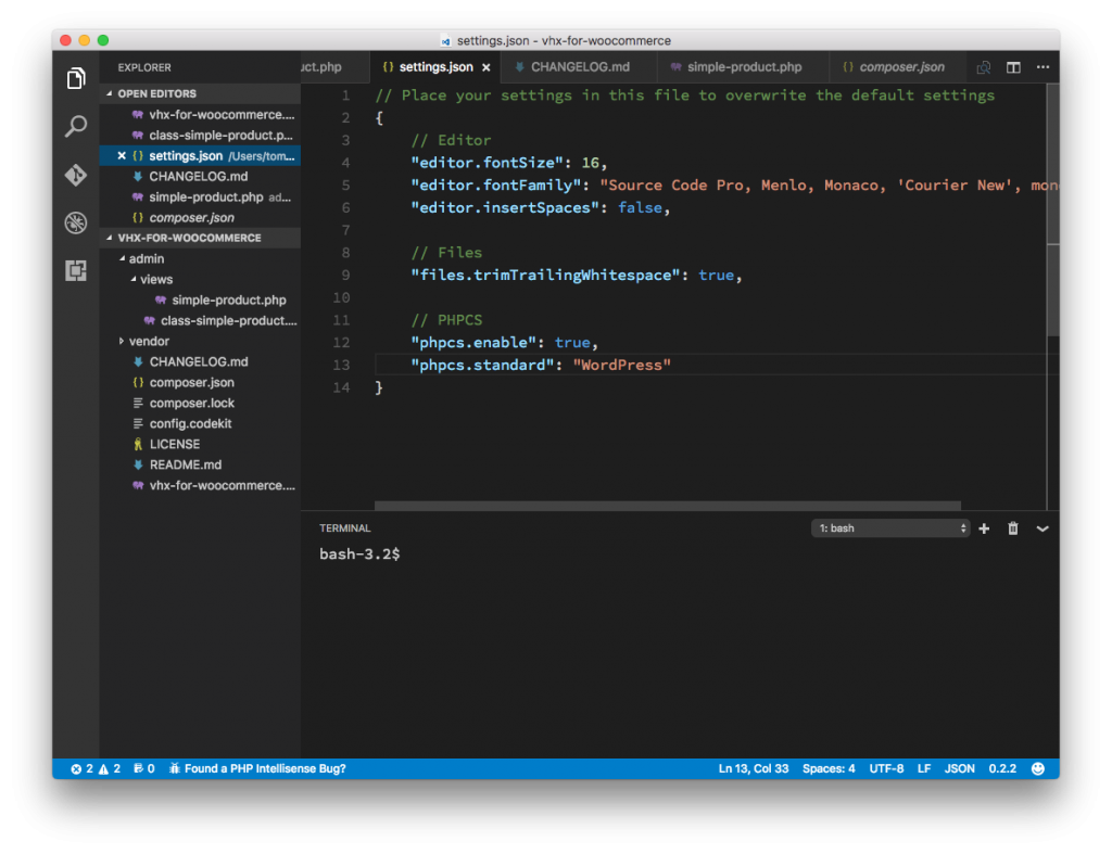 Configuration Files as seen in VS Code.