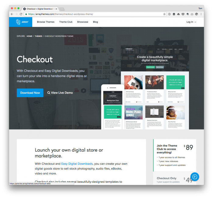 WordPress Payments: The Checkout Theme