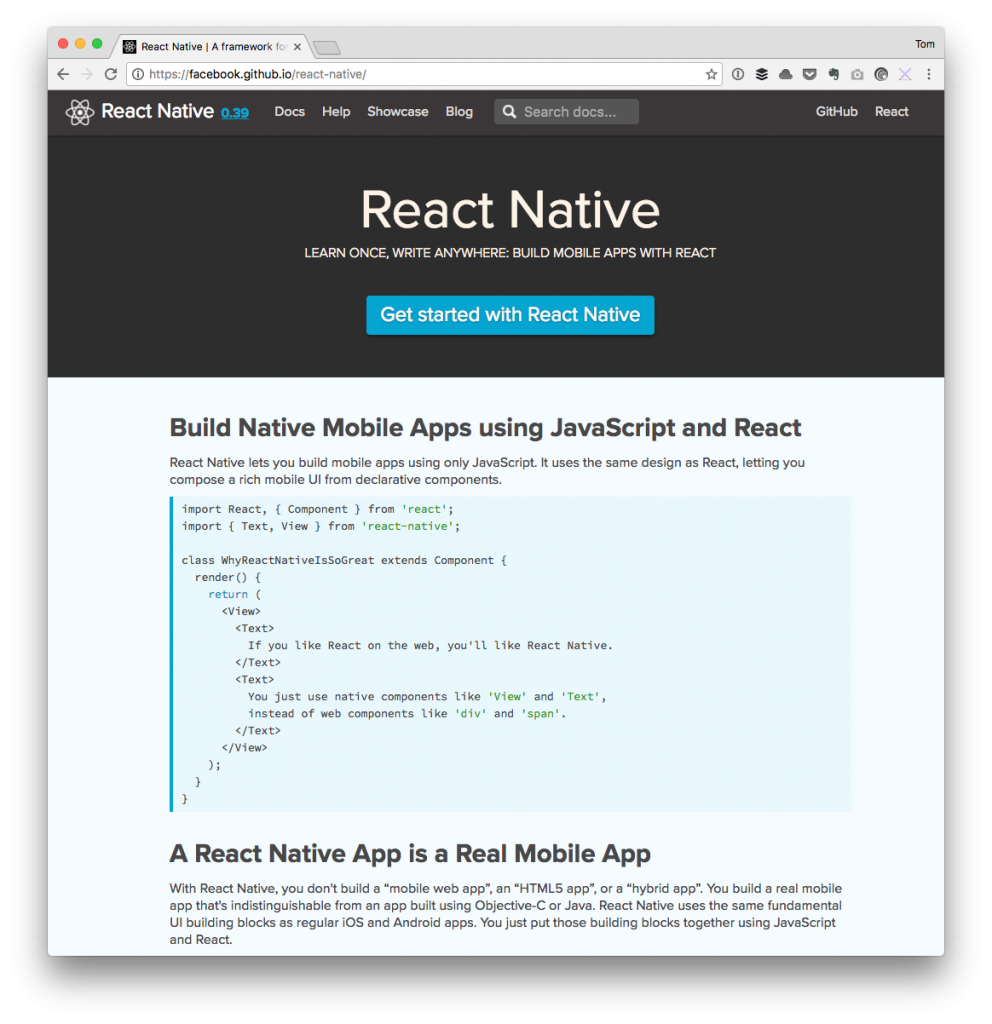 Plans for 2017: React Native