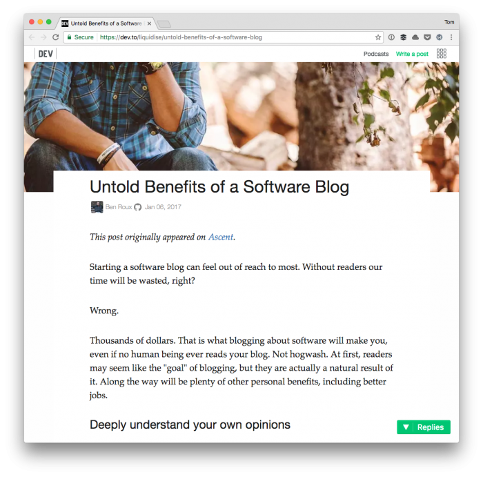 Programmers Should Blog