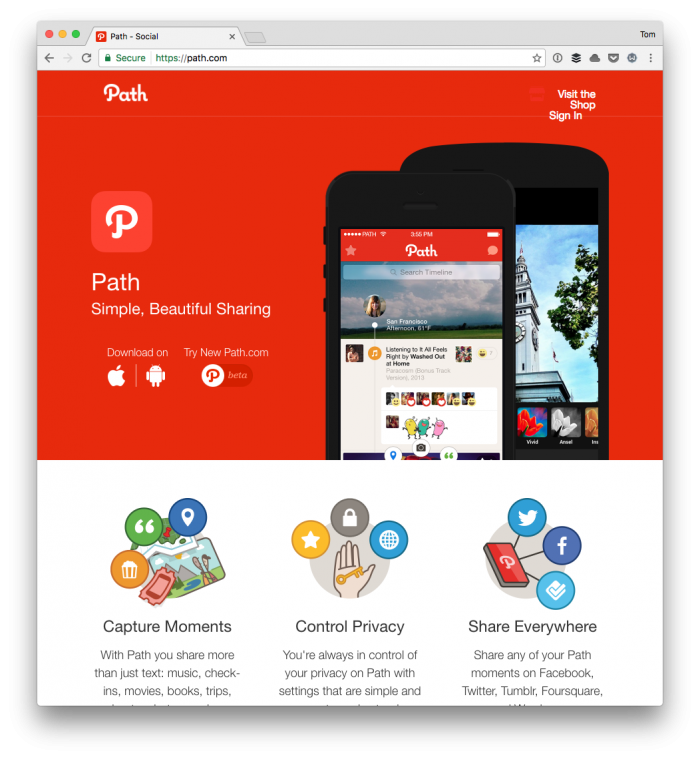 Path: It's like Micro.blog but not.