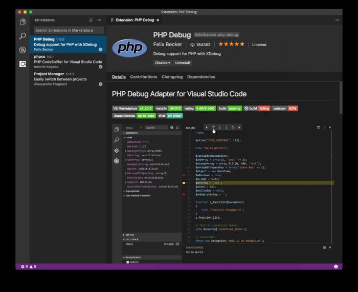 Xdebug and Visual Studio Code: The IDE