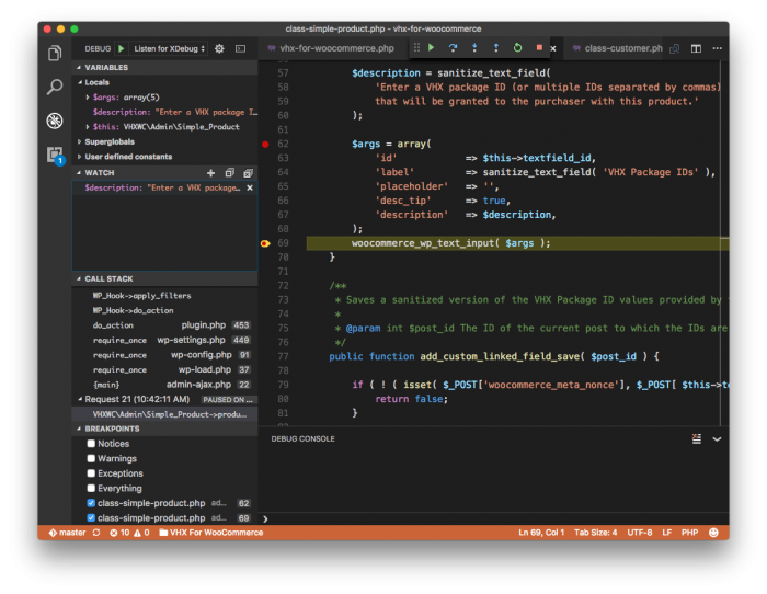 Visual Studio Code Debugger: Step In