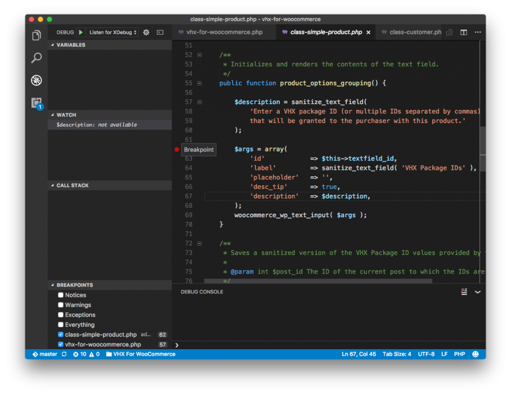 Visual Studio Code Debugger: Setting a Breakpoint