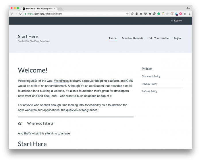 Start Here with WordPress