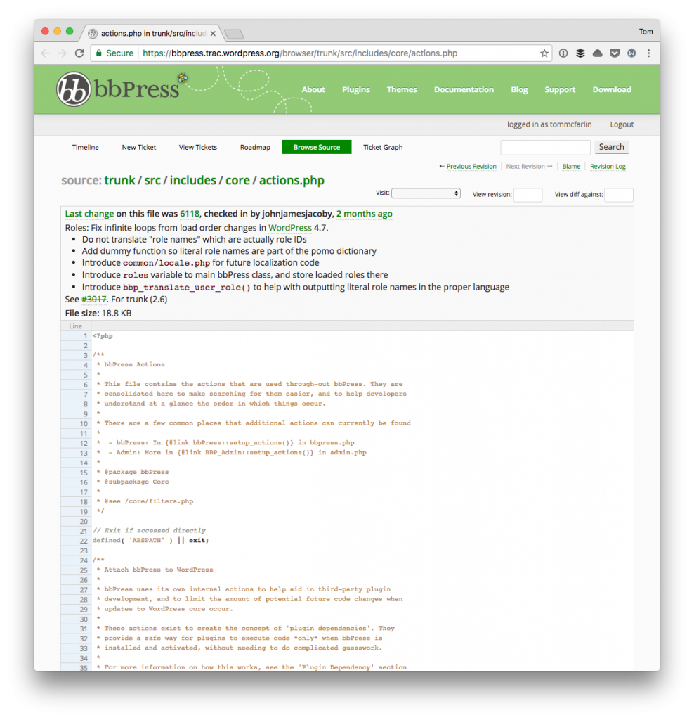WordPress Subactions (as seen in bbPress)