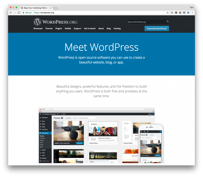 Medium versus WordPress: WordPress.org