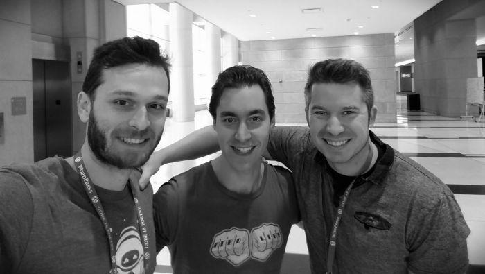 Vova Feldman, Carl Alexander, and Myself at WordCamp US