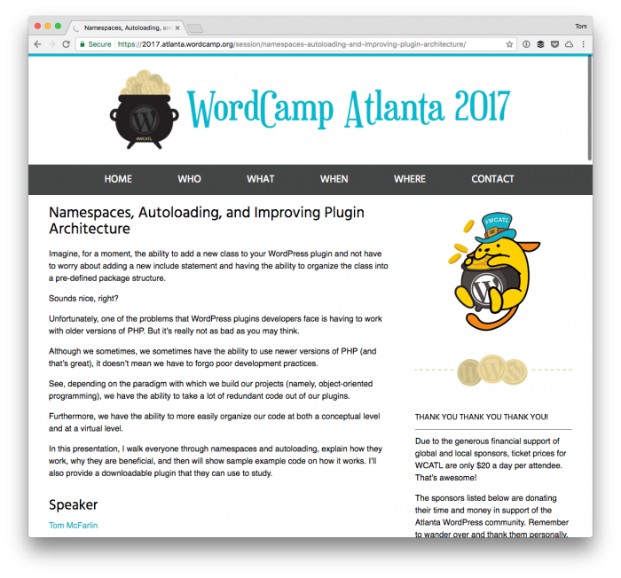 Namespaces and Autoloading in WordPress