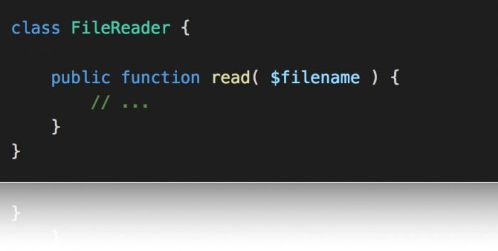 Namespaces and Autoloading: A class for reading files.