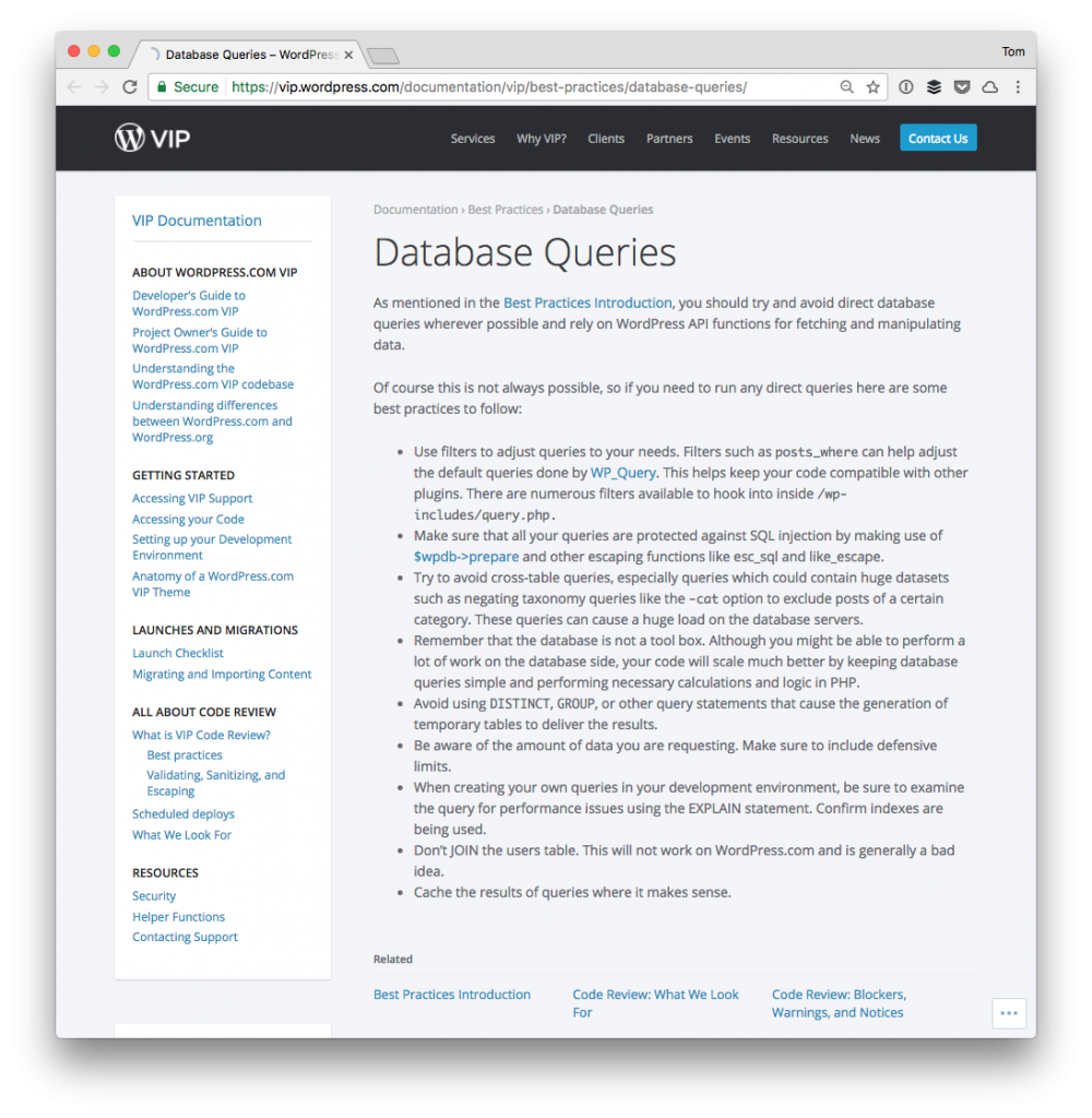 Direct Database Queries for WP VIP