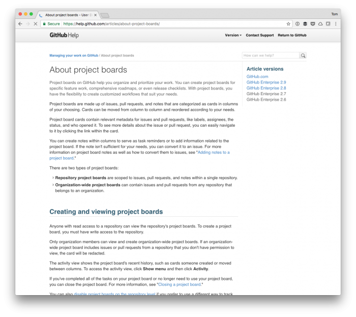 WordPress Project Milestones with GitHub Projects