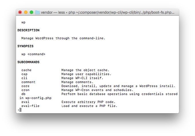 Globally Installing WP-CLI: Running WP-CLI from the command-line.