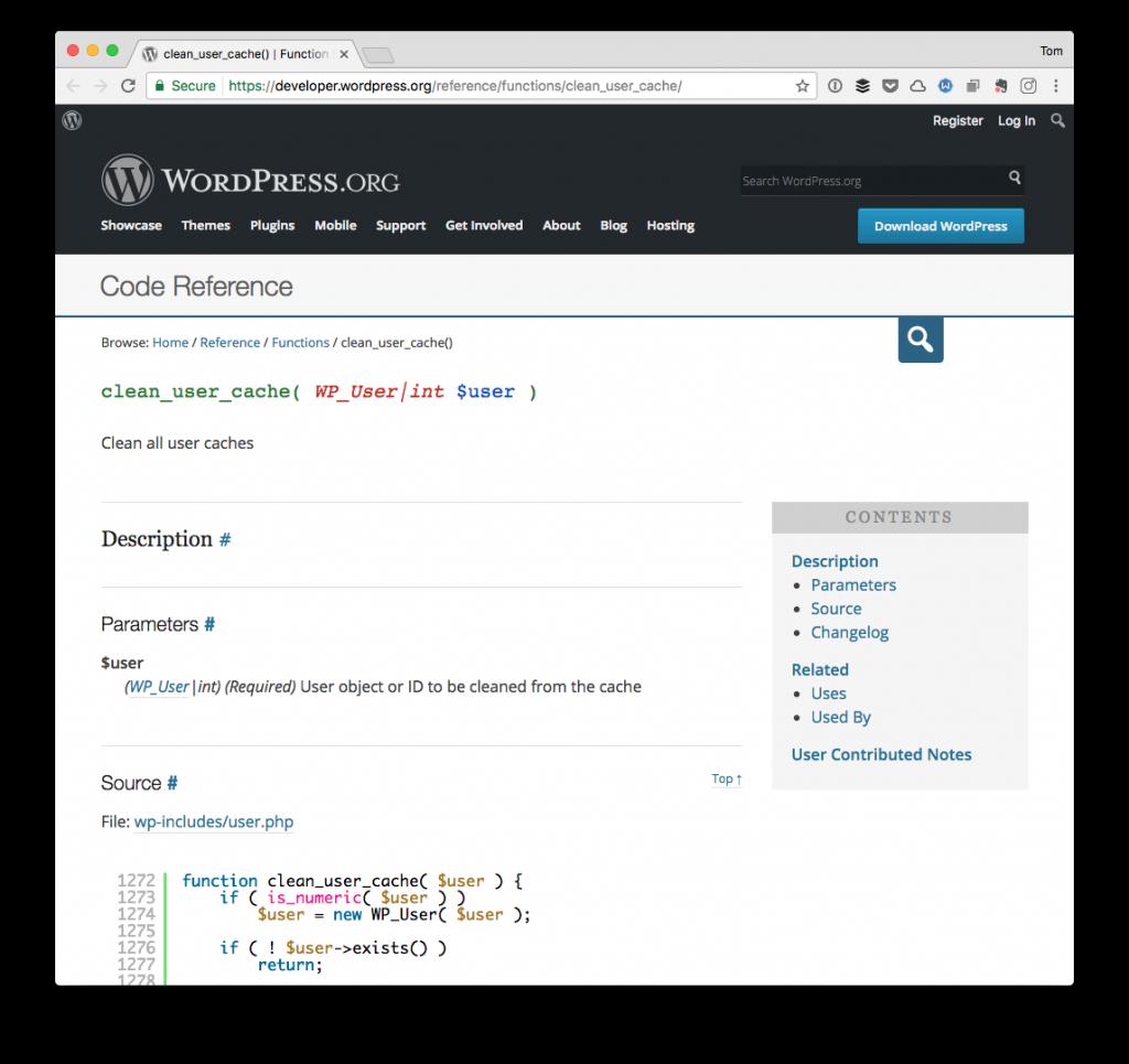 WordPress User Caches