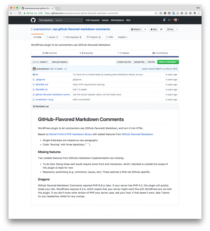 WordPress Plugins I Use: GitHub-Flavored Markdown Comments
