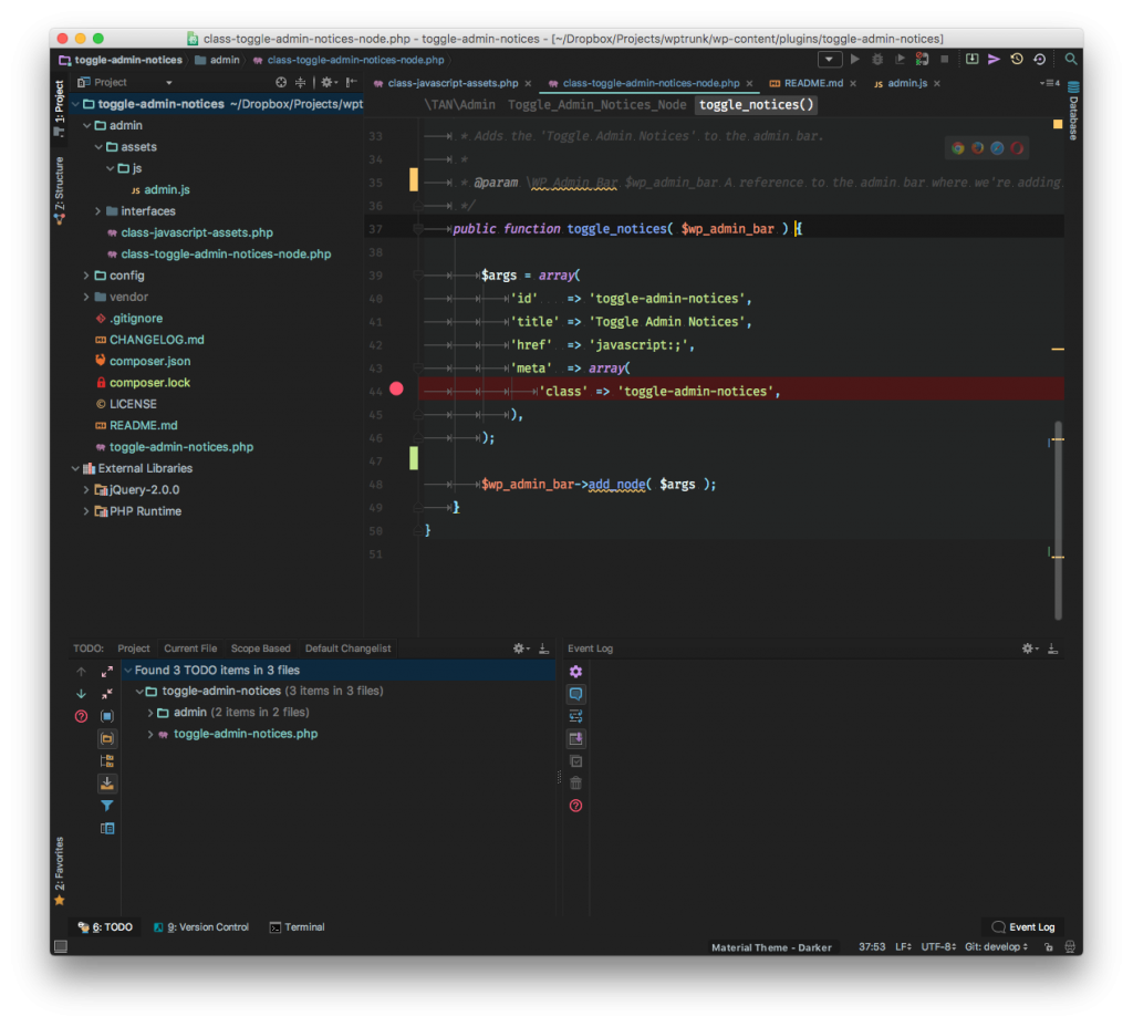 A PhpStorm WordPress Theme: My Current Setup