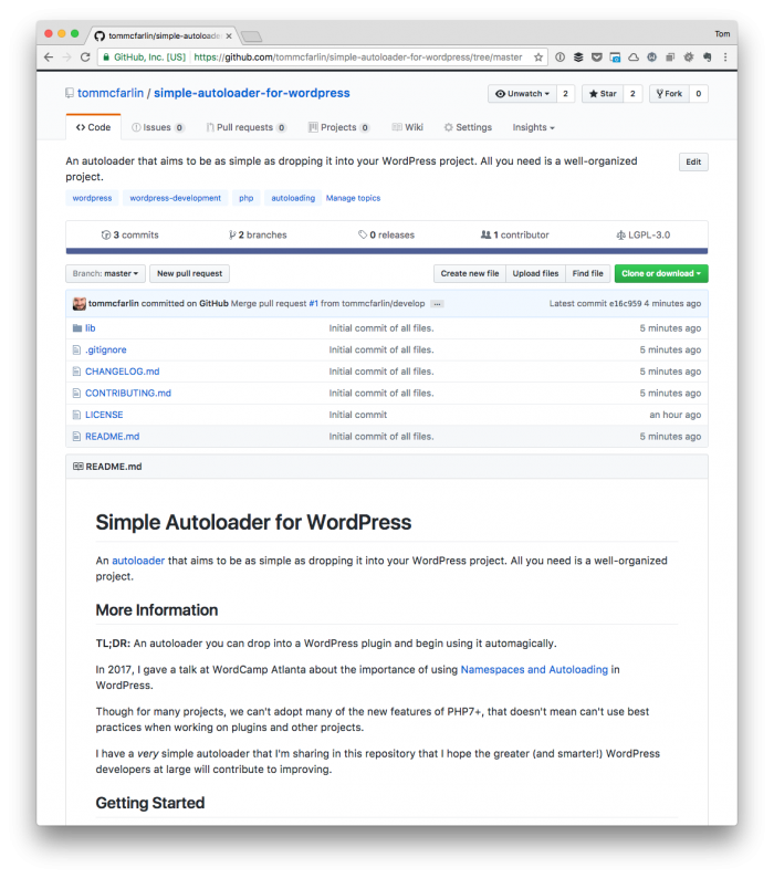 Simple Autoloader for WordPress
