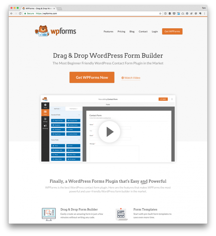 WordPress Plugins I Use: WPForms