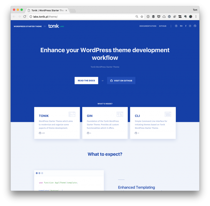 Tonik WordPress Starter Theme: Modern WordPress Theme Development - Tom McFarlin [en] @tommcfarlin