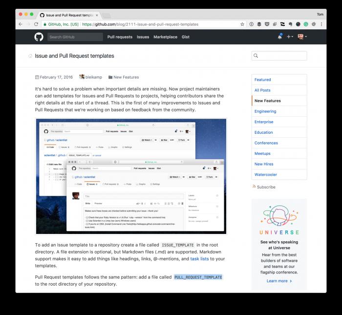 GitHub PR Templates