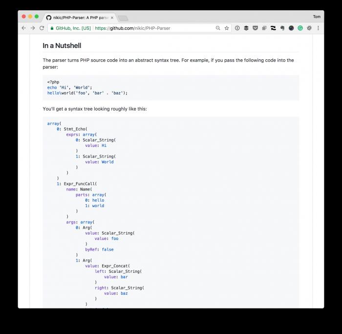 Libraries for WordPress Plugins: PHP-Parser