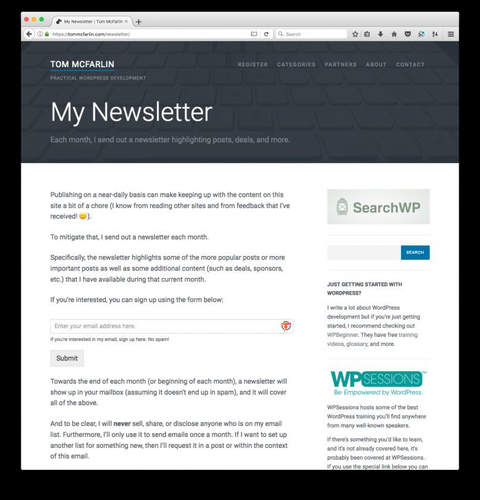 My Newsletter