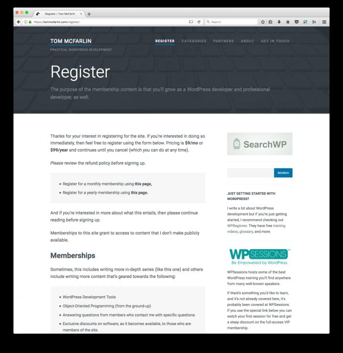 Register for Membership