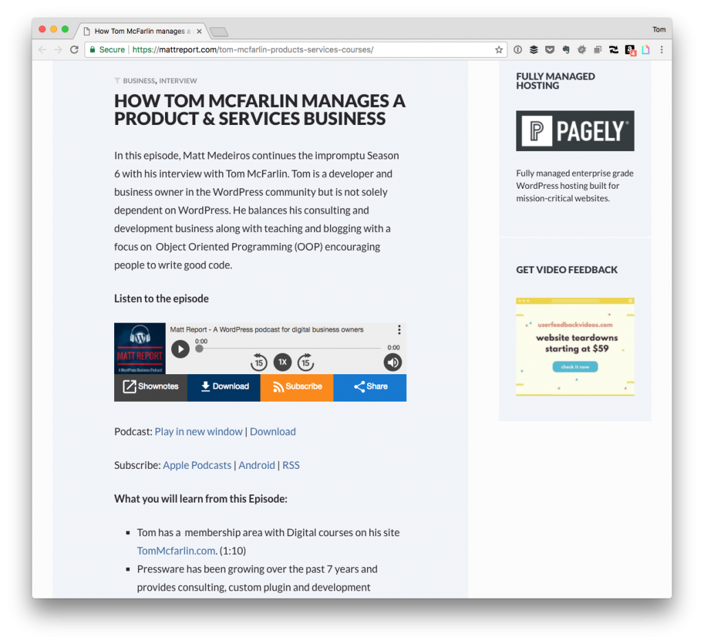 Products, Services, Blogging, and WordPress