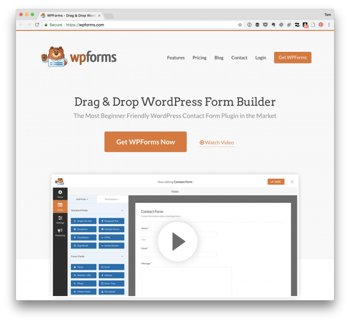 Jetpack Alternatives: WPForms