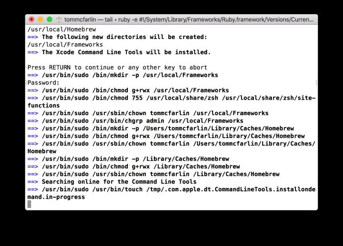 WordPress Development Environment: Installing Homebrew