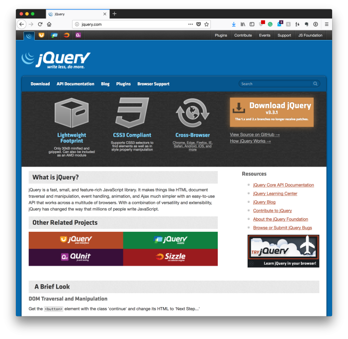 The New Thing: jQuery