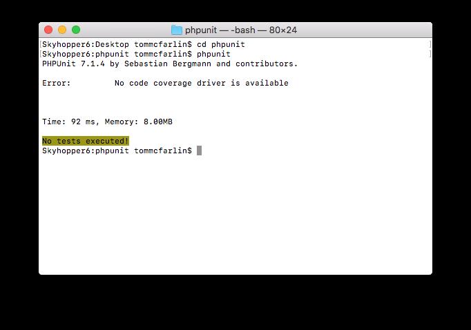 PHPUnit XML Configuration: Running PHPUnit