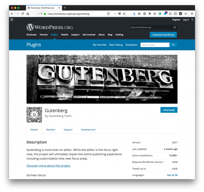 Demand for Gutenberg Is Not There