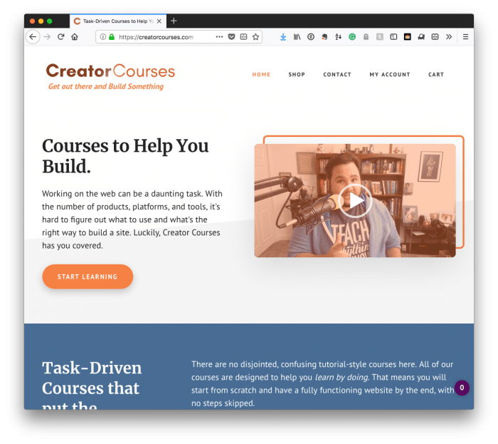 Benefits for Members: Creator Courses