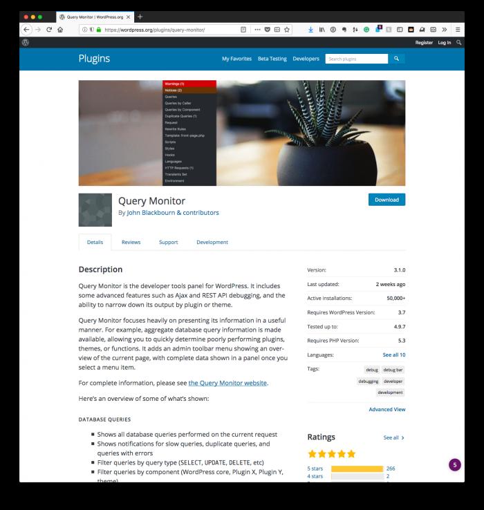 Debugging Within WordPress: Query Monitor