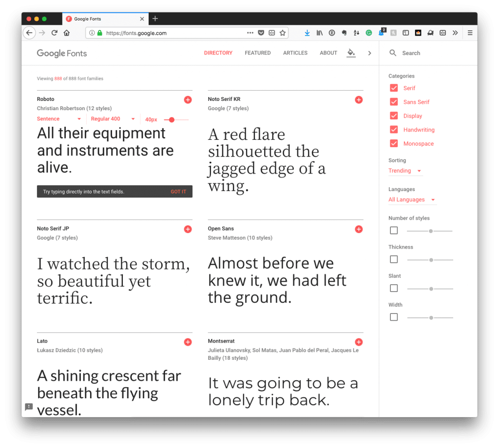 Custom Fonts in WordPress Plugins: Google Fonts