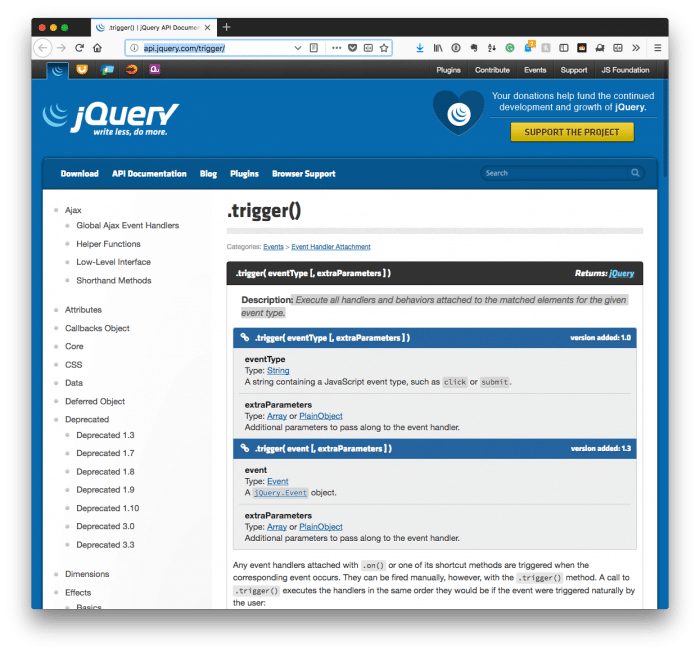 Custom jQuery Events