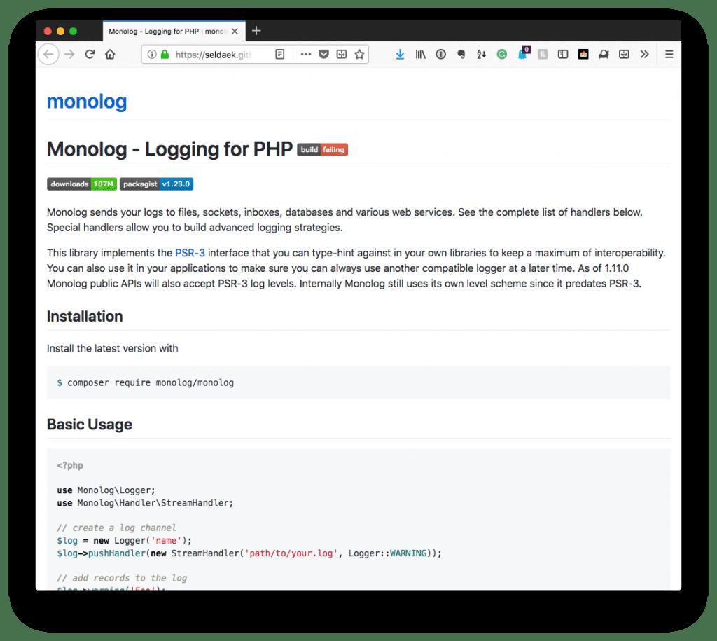 WordPress Debug Log: Monolog